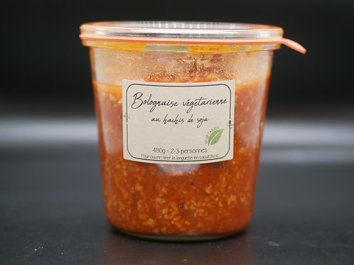 Bolognaise végétarienne au hachis de soja