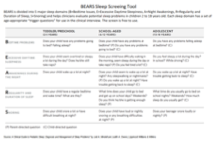 BEARS sleep screening tool