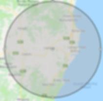 Kwik Strip Dustless Blasting Map