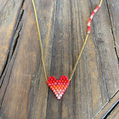 Collier Red Heart