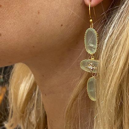 Boucles d'oreilles Thelma Préhnite