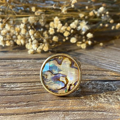 Bague Abalone Ajustable