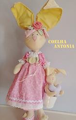 Boneco de Pano Coelho de Páscoa