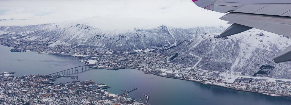 Tromsø widziane z góry