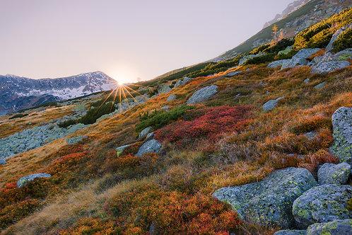 Zachód Słońca w Dolinie 5 Stawów