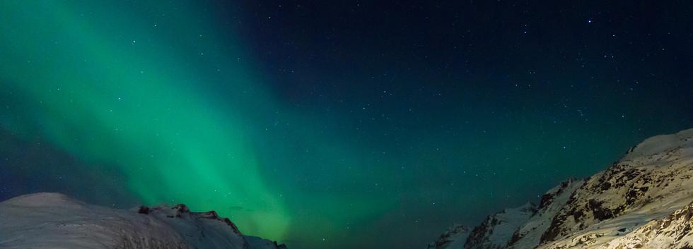 Zorza nad Ersfjord.