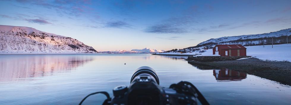 Typowy widok fotografa w tych okolicach.