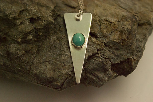 Sterling Silver and Turquoise Sharp Pointed Necklace