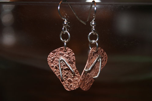 Copper and Sterling Silver Flip-Flops