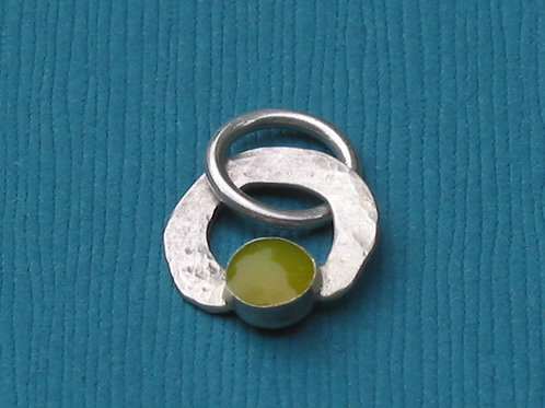 Sterling Silver and Yellow Resin Pendant