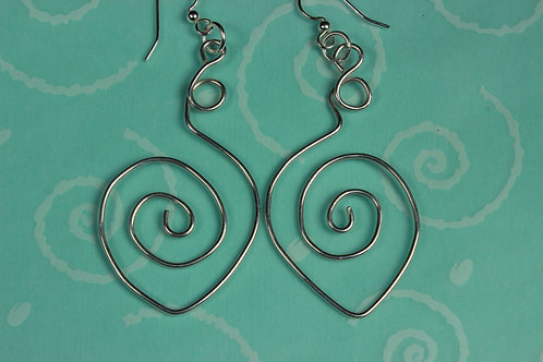 Sterling Silver Pointed Spiral Earrings