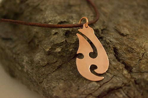 Copper Tribal Fish Hook Necklace