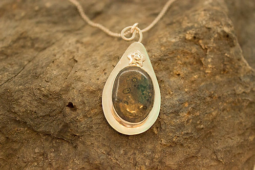 Galaxy Jasper and Sterling Silver Necklace