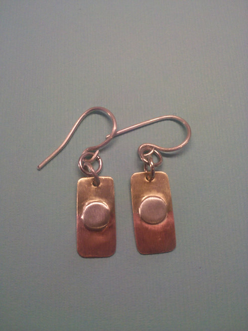 Copper, Brass and Silver Earrings