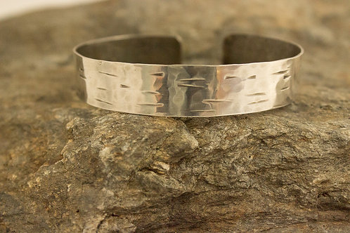 Sterling Silver Textured Cuff Bracelet, Small
