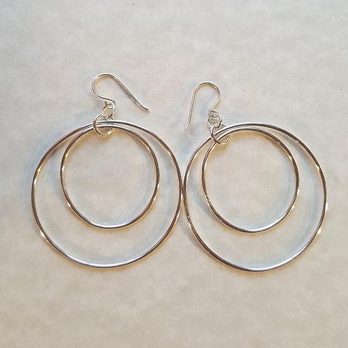 Sterling Silver Double Hoop Earrings
