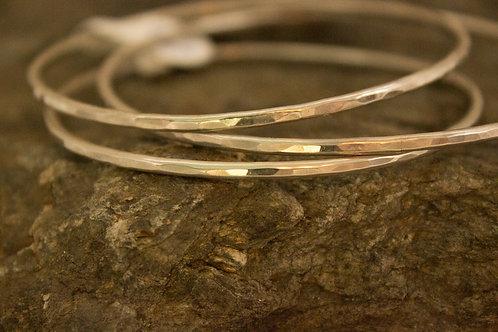 Textured Sterling Silver Bangle Bracelet (1)