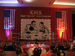 Sports Themed Event Stage Decor