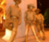 Gold Cowboy Living Statues