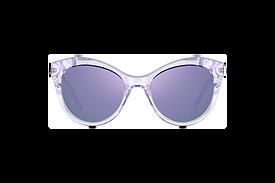Retro Cat-Eye Sunglasses with Translucent Glossy Finish