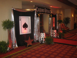 Casino Party Entrance Decor