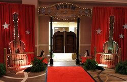 Country Themed Event Entrance Decor