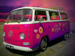 The Volkswagen Van (the Hippie Van)