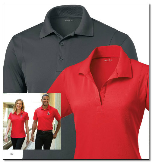 Micropique Polo Shirt wicks moisture and resists snags.
