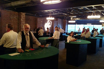 Blackjack Dealers ready for a Corporate Casino Party in Nashville, TN