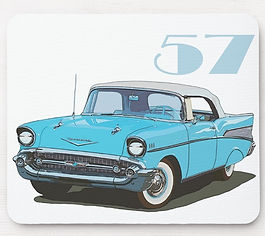 Classic 57 Chevy Mouse Pad
