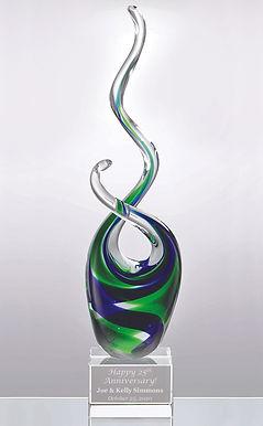 Tropical Splash Art Glass