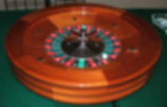 Roulette Wheel in Play at a Casino Night event.