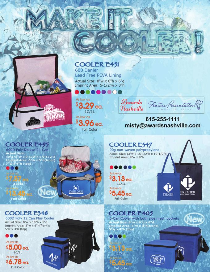 Cooler Bag Promotional Product Flier