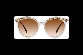 Sophisticated Snakeskin Pattern Cat-Eye Sunglasses