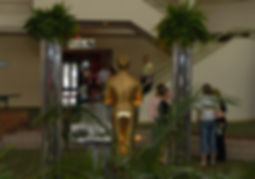Hollywood Oscar Themed Event Gold Living Statue