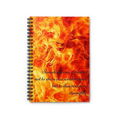 Spiral Notebook - Ruled Line (Fire)