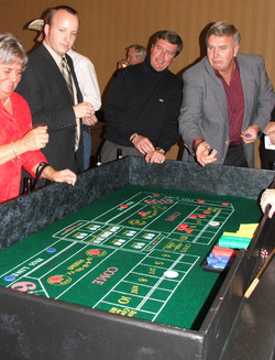 Casino Party guests playing Craps