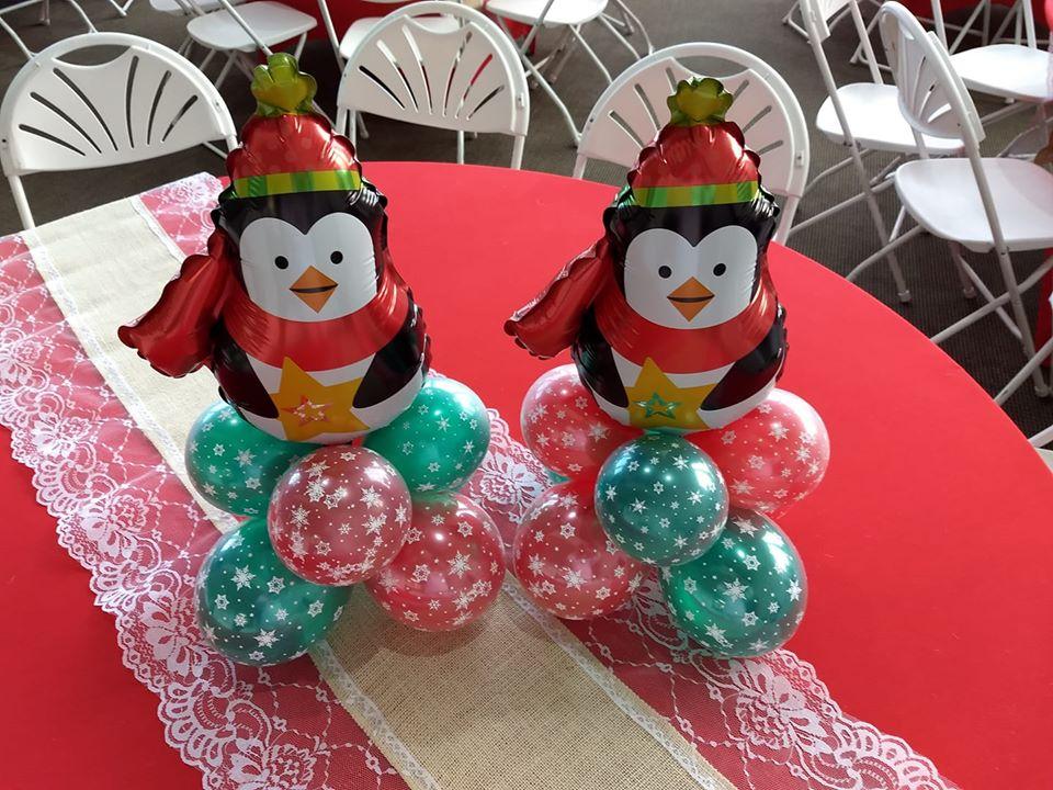 Christmas Balloon Centerpieces