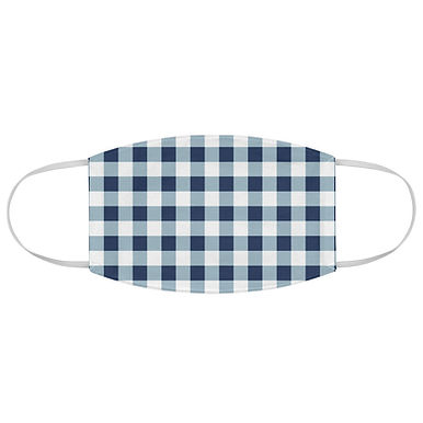 Fabric Face Mask (Blue Gingham 174)