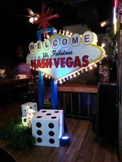 Casino Night Entrance Decor