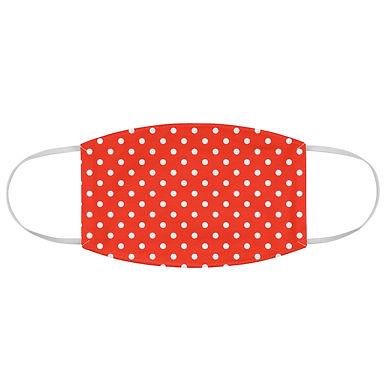 Fabric Face Mask (Orange Polka Dots 146)