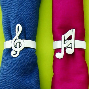 musical notes napkin rings