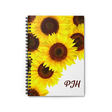 Spiral Notebook - Ruled Line (Sunflowers - Personalization)