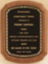 Sample Award Wording for Achievement Award