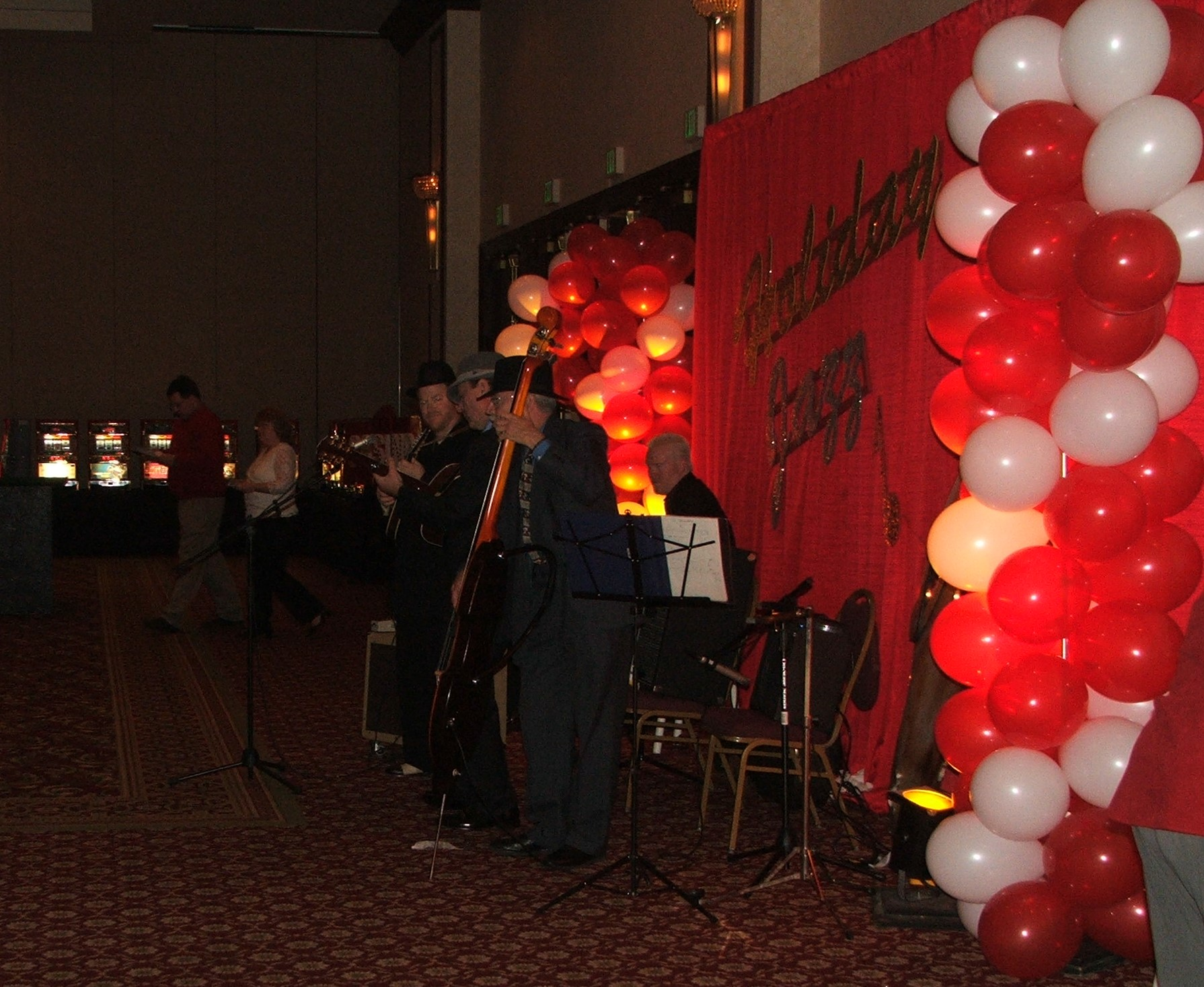 Holiday Jazz Trio with Balloon Decor