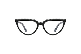 Edgy Cat Eye Sunglasses with Stripes