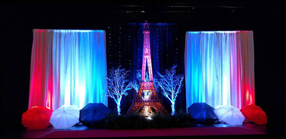 Paris-Themed-Event-Stage-Decor-Eiffel-Tower