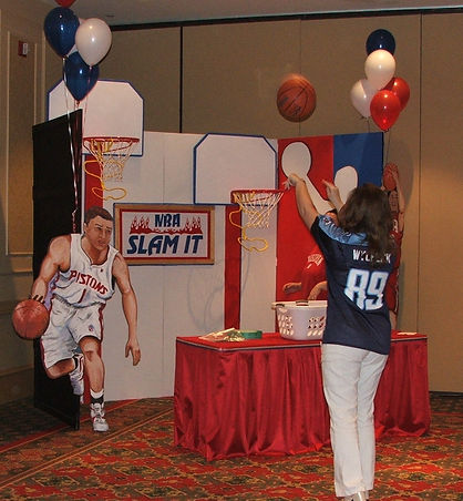 Basketball Themed Carnival Game at a Corporate Event