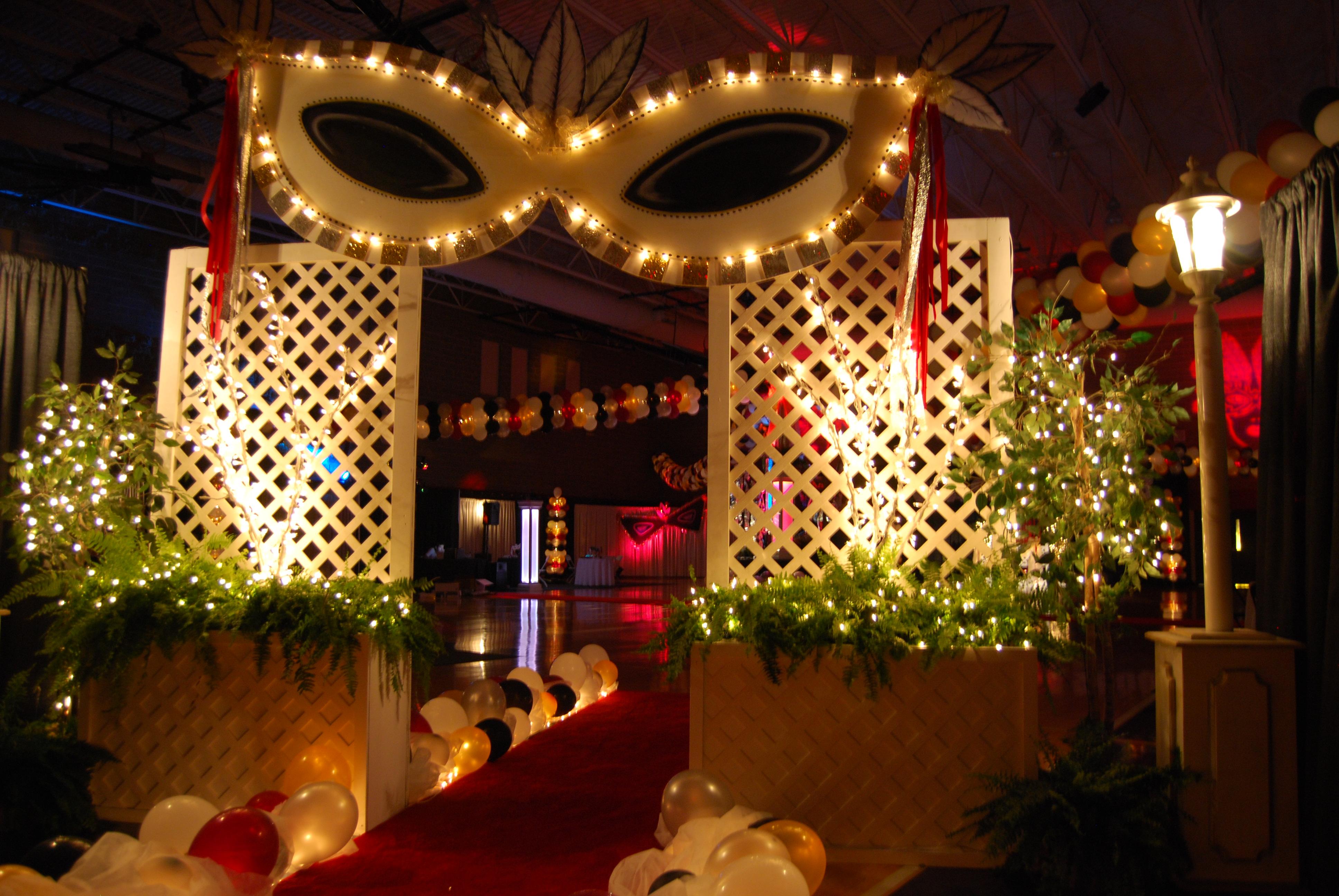 Masquerade Themed Event Decor