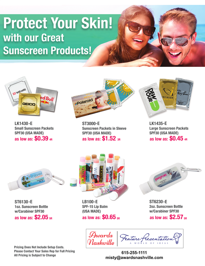 Sunscreen Products for your Summer Promotion